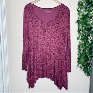 Soft Surroundings floral blouse | size large